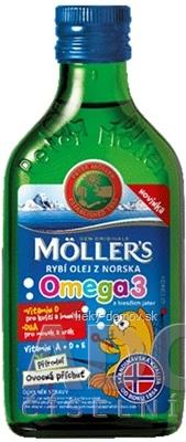 MOLLER´S Omega 3 RYBÍ OLEJ Ovocná aróma z pečene tresiek 1x250 ml