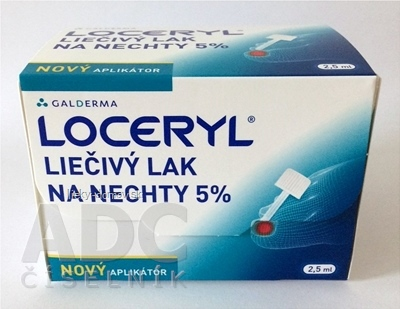 LOCERYL liečivý lak na nechty 5 % nový aplikátor, lum 1x2,5 ml