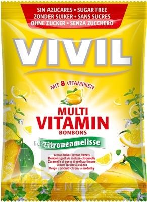 VIVIL BONBONS MULTIVITAMÍN drops s príchuťou citrónu a medovky, bez cukru 1x60 g