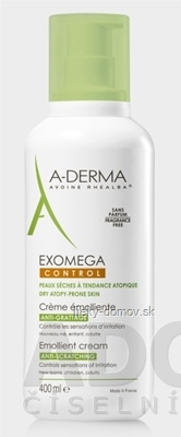 A-DERMA EXOMEGA CONTROL CRÈME ÉMOLLIENTE emolienčný krém 1x400 ml