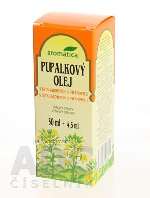 aromatica PUPALKOVÝ OLEJ S BETA-KAROTÉNOM A VIT.E 1x50 ml