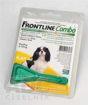 FRONTLINE Combo Spot-On pre psy S sol (na kožu, psy 2-10 kg) 1x0,67 ml