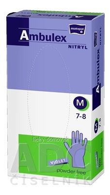 Ambulex rukavice NITRYLOVÉ veľ. M, fialové, nesterilné, nepúdrované, 1x100 ks