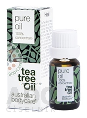 ABC AUSTRALIAN BODYCARE TEA TREE OIL original 100% austrálsky čajovníkový olej 1x10 ml