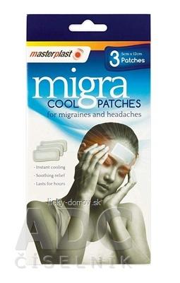 masterplast Migra Cool chladivá náplasť 5cm x12cm, 1x3 ks