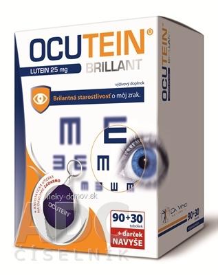 OCUTEIN BRILLANT Luteín 25 mg - DA VINCI cps 90+30 navyše (120 ks) + darček (antistat. utierka na okuliare), 1x1 set