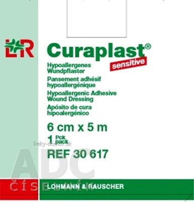 CURAPLAST Sensitive 6cmx5m rychloobväz na rany-5 m rolka v dávkovacej škatuli 1x1 ks
