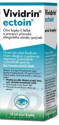 Vividrin ectoin očné kvapky 1x10 ml