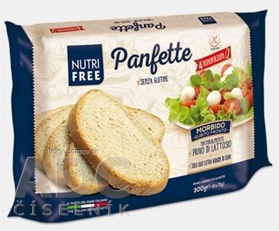NutriFree Panfette chlieb biely, krájaný (4 porcie) 1x300 g