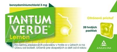 Tantum Verde Lemon pas ord 3 mg (obal papier) 1x20 ks