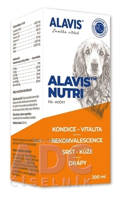 ALAVIS NUTRI olejová emulzia pre psy, mačky a fretky 1x200 ml