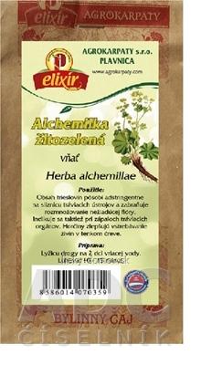 AGROKARPATY ALCHEMILKA ŽLTOZELENÁ vňať bylinný čaj 1x50 g