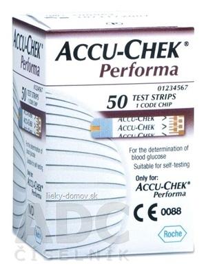 ACCU-CHEK Performa 50 testovacie prúžky do glukomera 1x50 ks