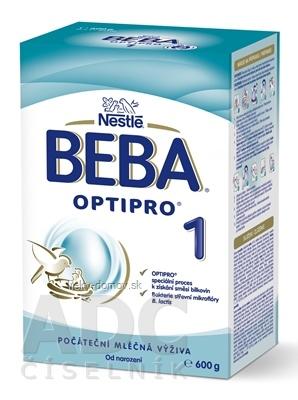 BEBA OPTIPRO 1 (modrá, inov. 2019) počiatočná mliečna výživa (od narodenia) 1x600 g