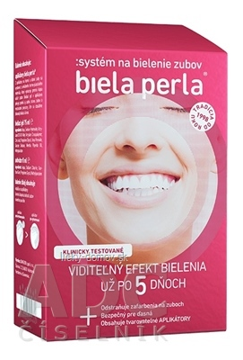 Biela perla Systém na bielenie zubov (aplikátory + aktivátor 8 ml + bieliaci gél 75 ml ) 1x1 set
