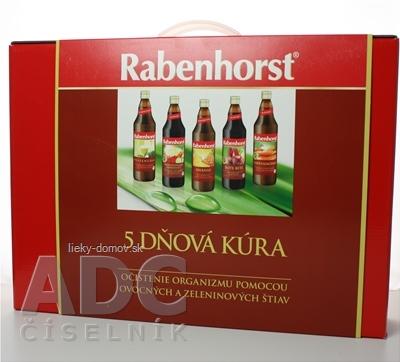 Rabenhorst 5 dňová očistná kúra ovocné a zeleninové šťavy 5x750 ml, 1x1 set