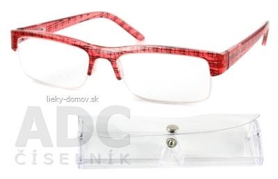 American Way okuliare na čítanie FLEX červeno-čierne +3.50 + púzdro 1 ks, 1x1 set