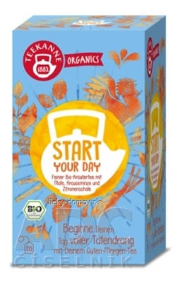 TEEKANNE ORGANICS BIO START YOUR DAY bylinný čaj 20x1,8 g