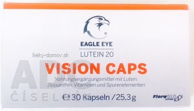 EAGLE EYE LUTEIN 20 VISION CAPS cps 1x30 ks
