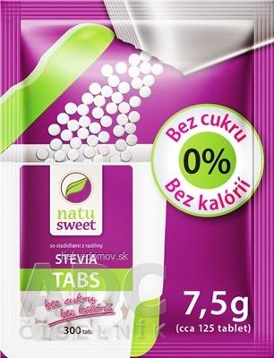 NATUSWEET STEVIA TABS - refill pack sladidlo, vrecúško na doplnenie dávkovača 1x7,5 g