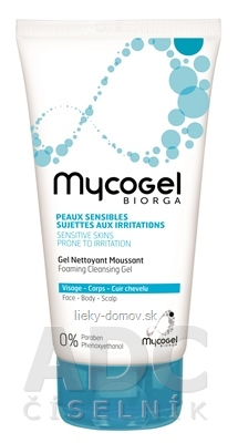 Mycogel BIORGA Čistiaci penivý gél (Foaming Cleansing Gel) 1x150 ml