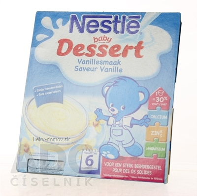 Nestlé Baby DESSERT Vanilka (od ukonč. 6. mesiaca) 4x100 g (400 g)