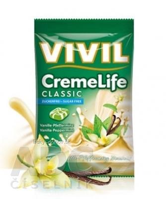 VIVIL BONBONS CREME LIFE CLASSIC drops s vanilkovo-mätovou smotanovou príchuťou, bez cukru 1x110 g