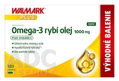 WALMARK Omega 3 rybí olej FORTE cps (výhodné balenie) 1x180 ks