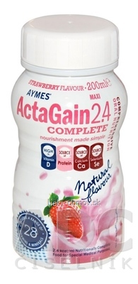 ActaGain 2.4 COMPLETE jahodová príchuť 24x200 ml