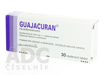 GUAJACURAN tbl obd 200 mg (blis. Al/PVC) 1x30 ks