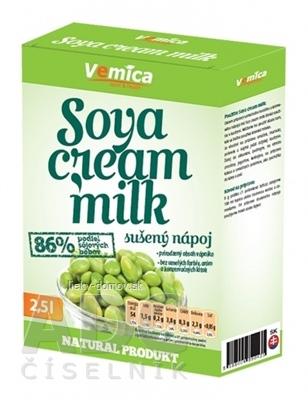 Vemica Soya cream Milk sušený sójový nápoj (na 2,5 l), prášok 1x200 g