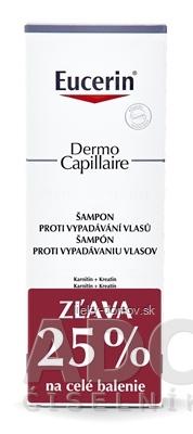 Eucerin DermoCapillaire Šampón vypadávanie vlasov 2x250 ml (1+1 PROMO 2020, zľava) 1x1 set