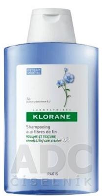 KLORANE SHAMPOOING AUX FIBRES DE LIN Šampón s ľanovými vláknami pre jemné vlasy 1x400 ml
