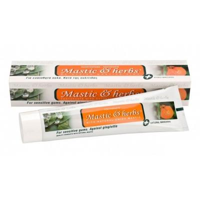 Zubná pasta s mastichovým a mandarinkovým olejom, myrhou a šalviou