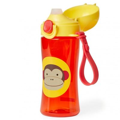 SKIP HOP Zoo Fľaša športová s uzáverom - Opička 3+