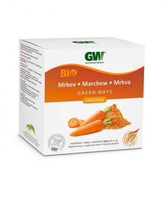 GW BIO sušený prášok zo šťávy koreňa MRKVY (200g)