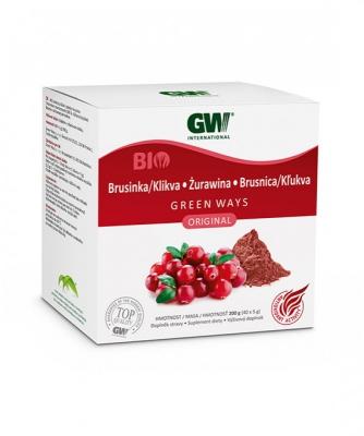 GW BIO sušený prášok z plodov BRUSNICE/ KĽUKVY (200g)